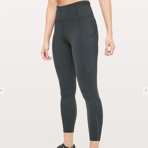 "Lululemon Fast and Free 7/8 Tight 24"" Leggings NEW"